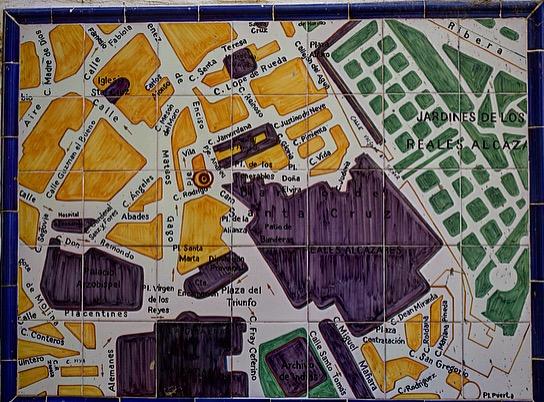 Svilla- eine alte Karte der Stadt