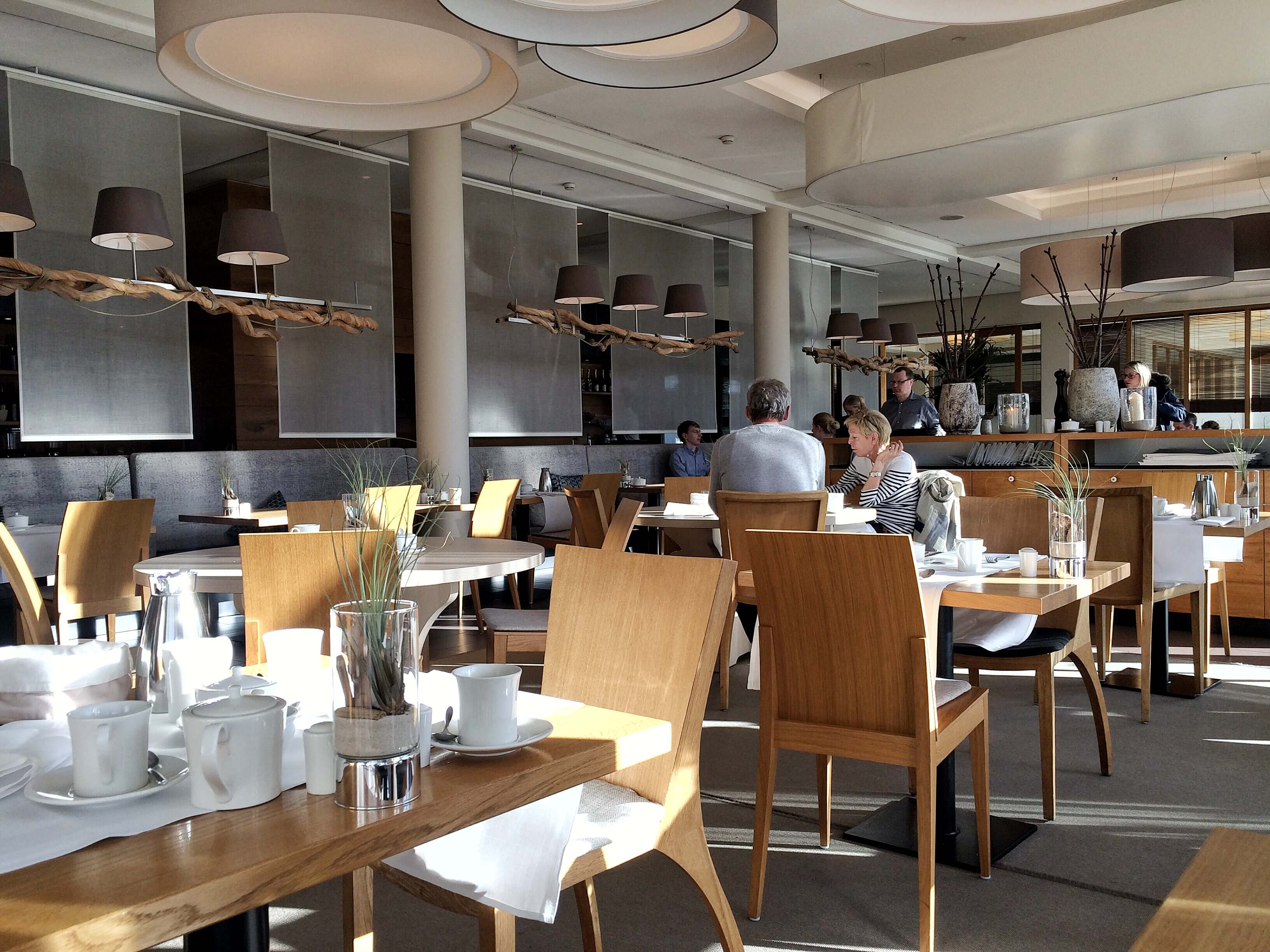 Der Frühstücksraum des Arosa in Sylt