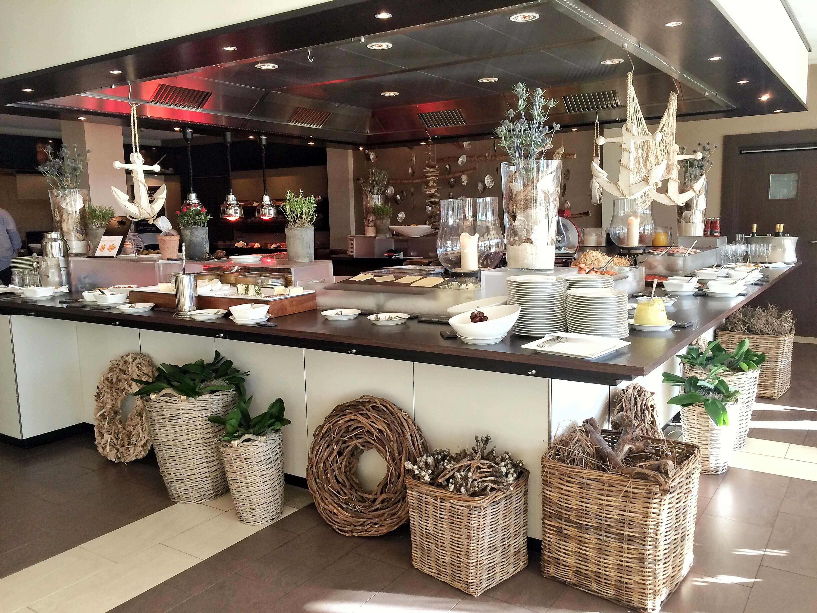 Das Frühstücksbuffet des Arosas